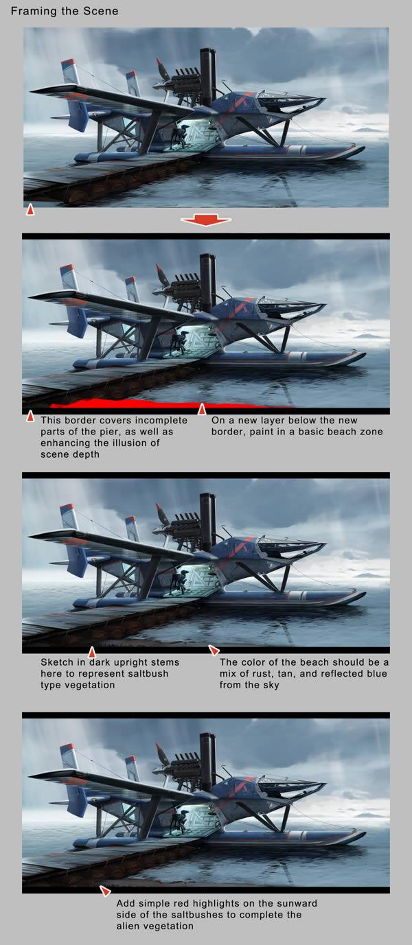 Design a Futuristic Extra Terrestrial Seaplane in Photoshop