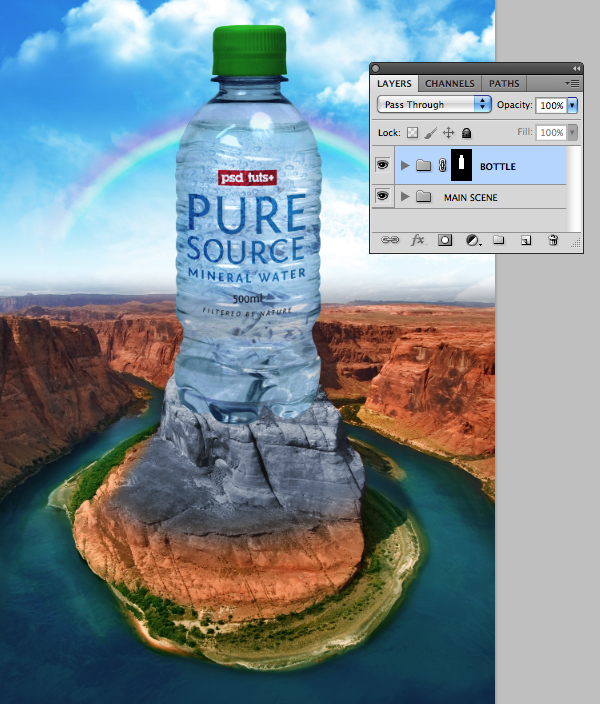 create a surreal advertising photo manipulation step 41