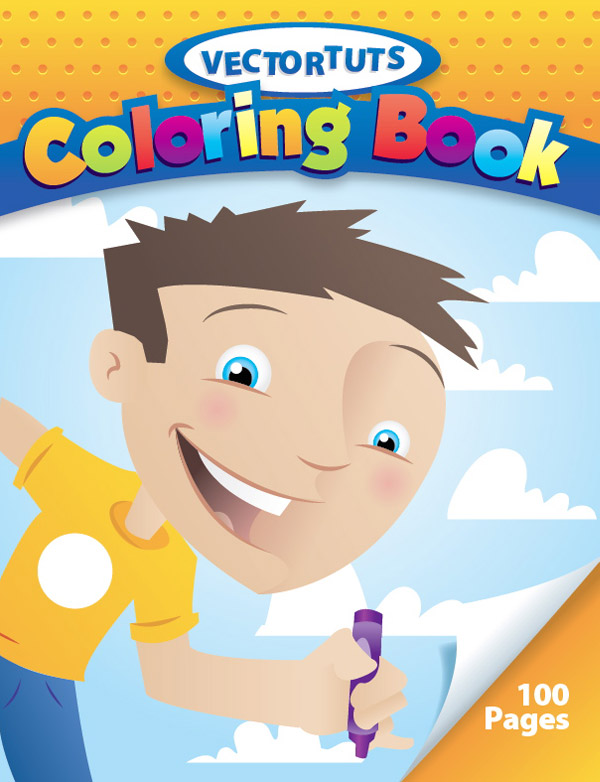 Create A Children S Book Cover : Create a happy bright children s coloring book cover