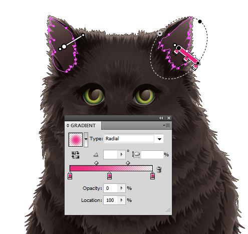 Cat Whisker Paint Brush