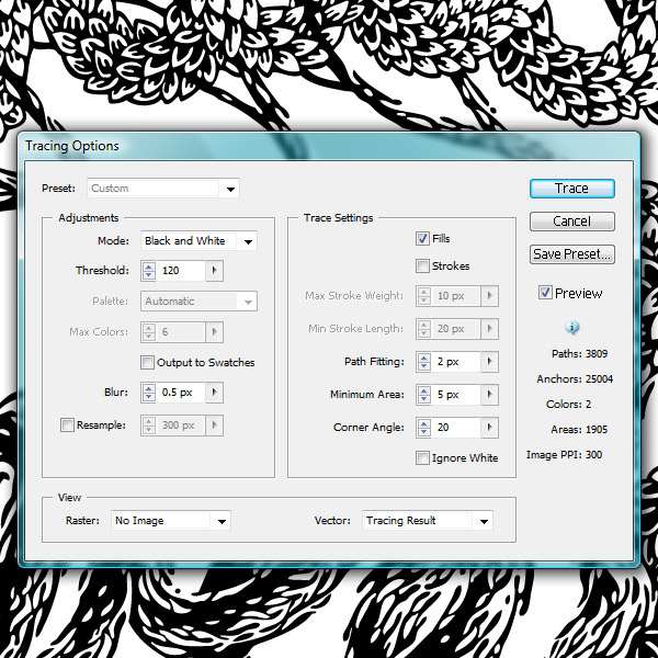 Live Trace in Illustrator