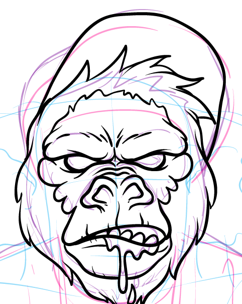 Gorilla Face Line Drawing : Creating a skate inspired gorilla