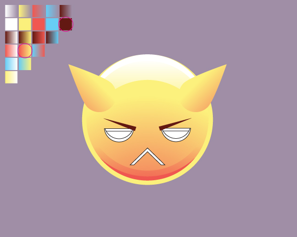 Create the Angry Emoticon