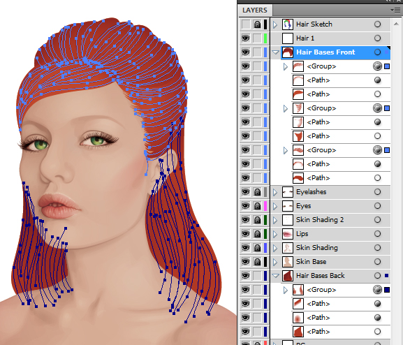 Create a Backlit, Elegant Female Portrait in Illustrator