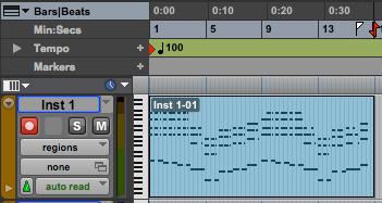 MIDI Editing in Pro Tools
