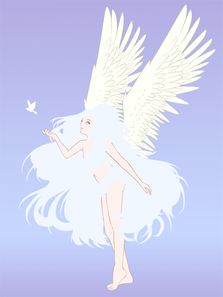 Creating an Anime-Styled Angel Vector Illustration in ...