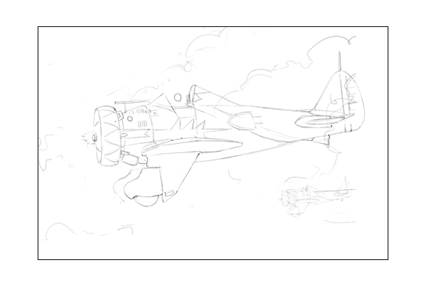 Line art ready for masking