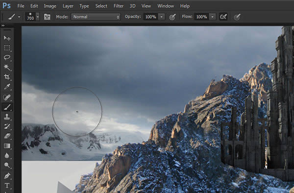Create a Mountain Fortress Using Matte Painting Techniques in Photoshop