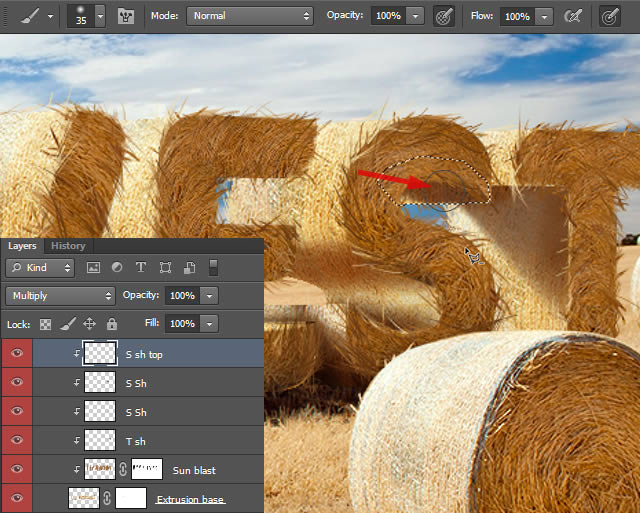 How to Create Stylized Hay Bale Typography in Adobe Photoshop