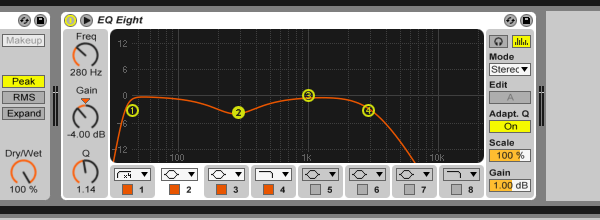 Basses effects group settings