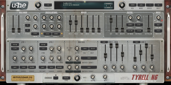 PadC5 synth settings