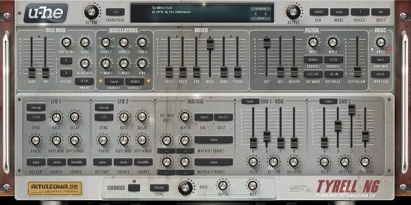 Fx synth settings