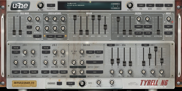 Fx2 synth settings