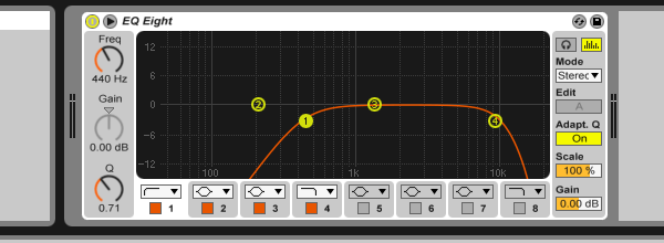 Fx effects group settings