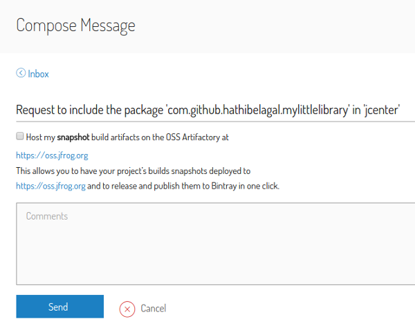 Compose message page