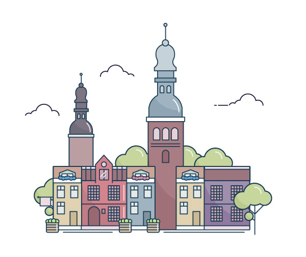 Line Art Adobe Illustrator : How to create a line art city landscape in adobe illustrator