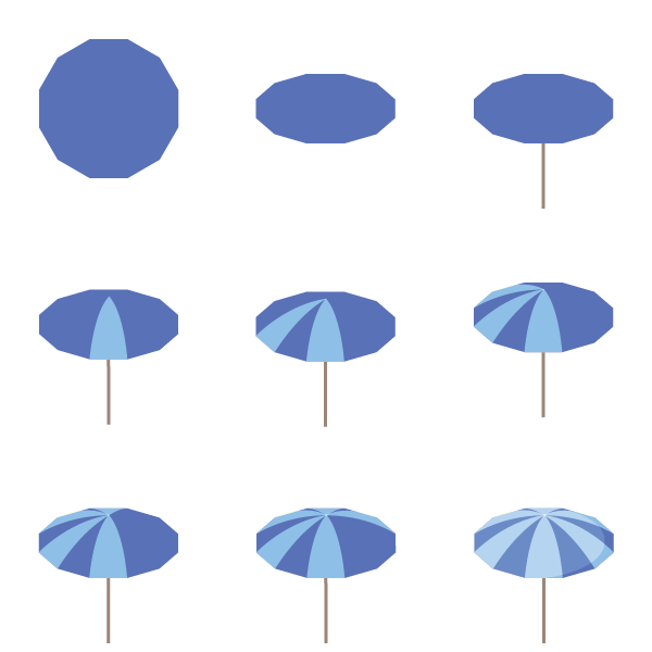 Process of a parasol
