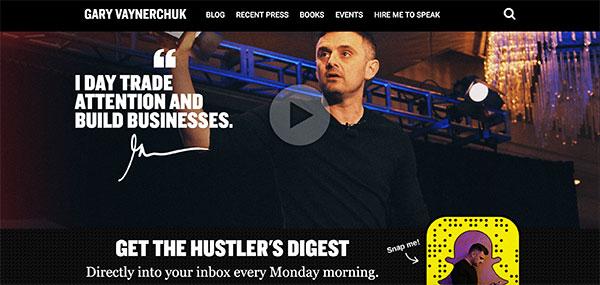 Gary Vaynerchuck homepage