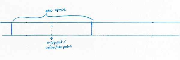 midpoint for symmetrical flourishes