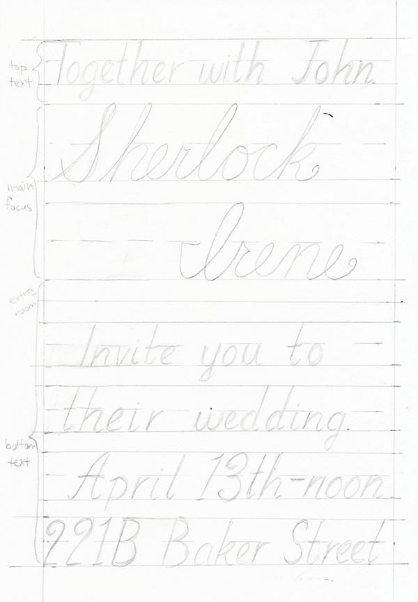 pencil in focus letters