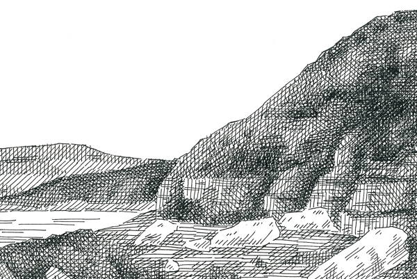 Final crosshatched landscape