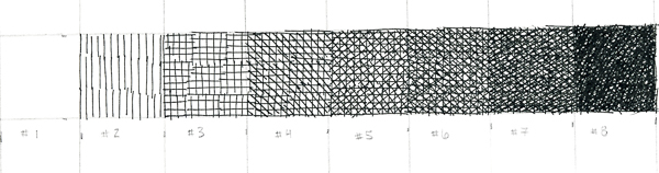 Crosshatching value scale 9