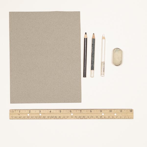 Materials for a tonal drawing