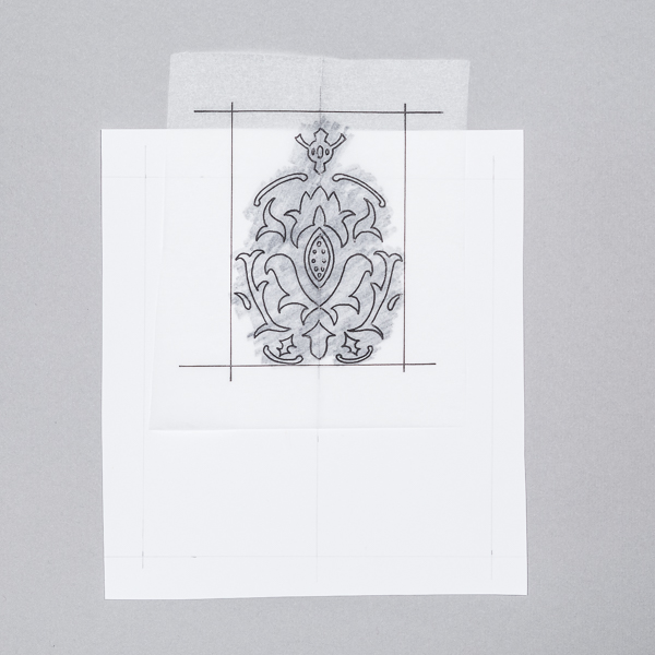 Use A Tracing Paper Trick To Create Seamless Wallpaper Stunning Pattern Tracing Paper