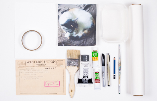 Ephemera Painting - supplies