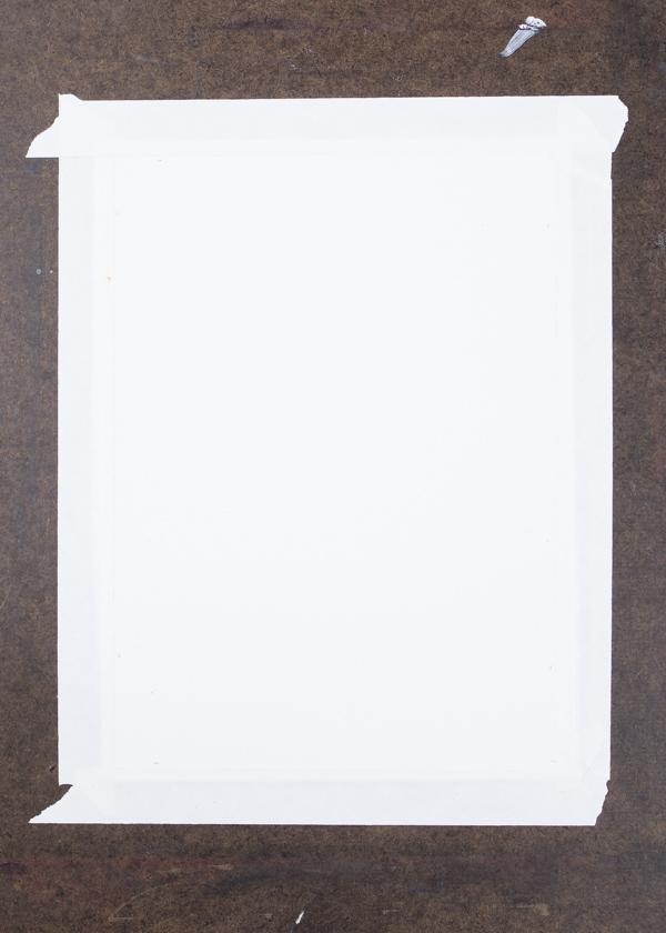 Ephemera Painting - taping down your paper