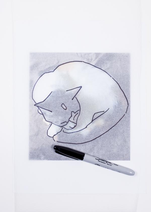 Ephemera Painting - tracing your image