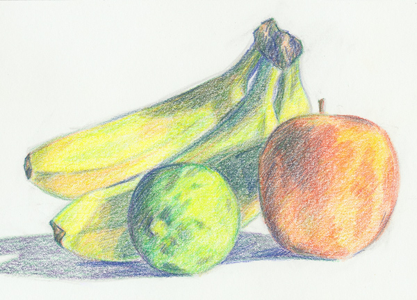 Two-Layer Color Pencil Technique