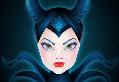 Preview for Create the Enchanting Maleficent Portrait in Adobe Illustrator