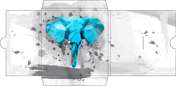 Design A CD Cover In Low Polygonal Grungy Style Adobe Illustrator