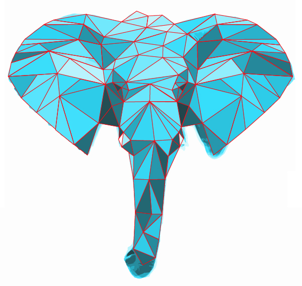 colored elephant