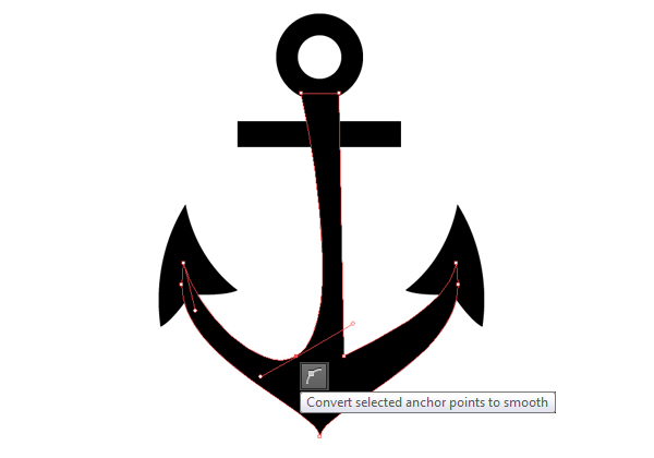 Create  Anchor base Convert Anchor points to smooth 1