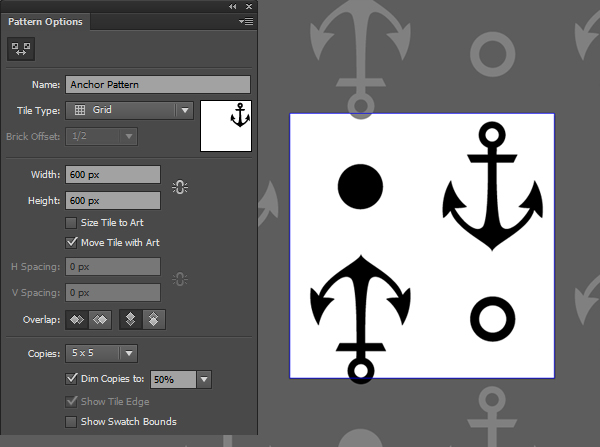 Anchor seamless pattern tool 1