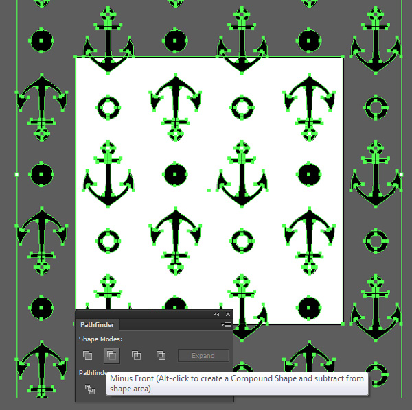Anchor seamless pattern minus front in pathfinder