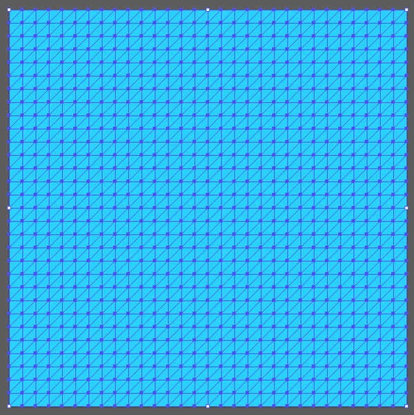 Fill the grid with blue color