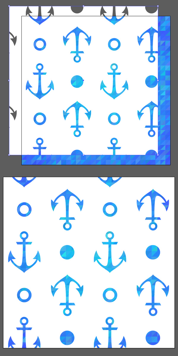 place anchor pattern over the geometrial background