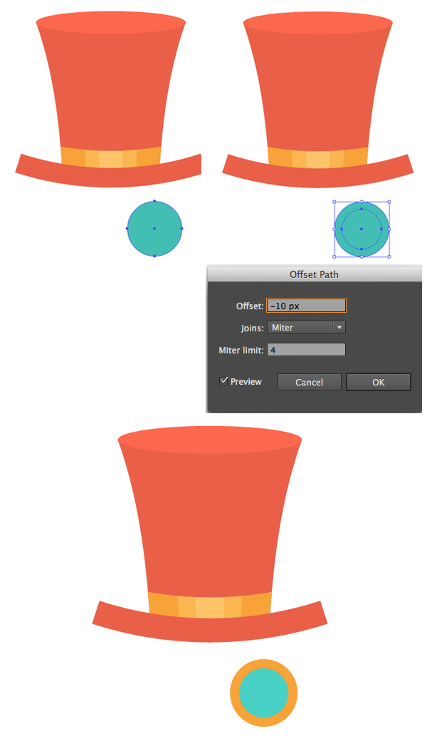 make round glasses with ellipse tool