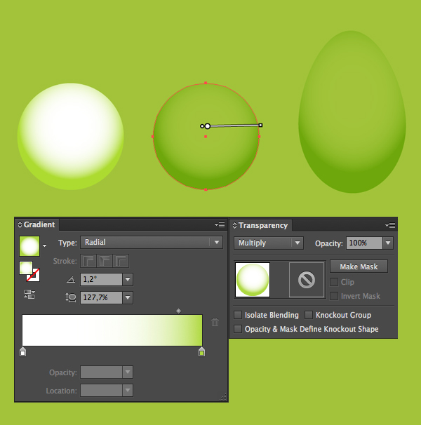 create a water drop base with ellipse tool and multiply mode