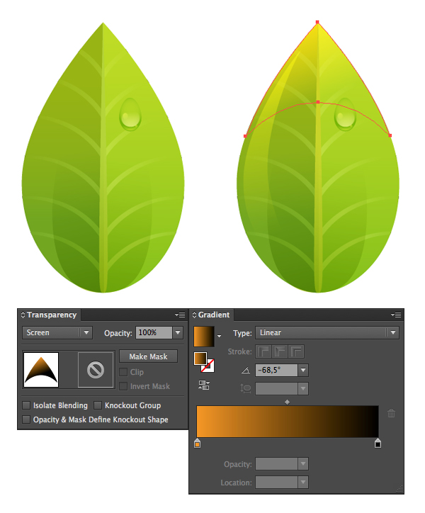 add highlights to the leaf