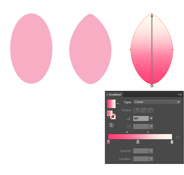 create a petal with ellipse tool