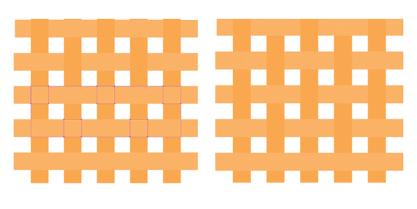 recolor squares row by row