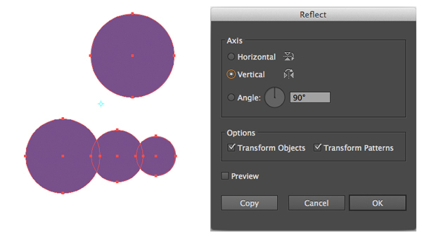 create a group of circles with the Ellipse Tool L