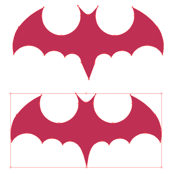 edit the bat silhouette