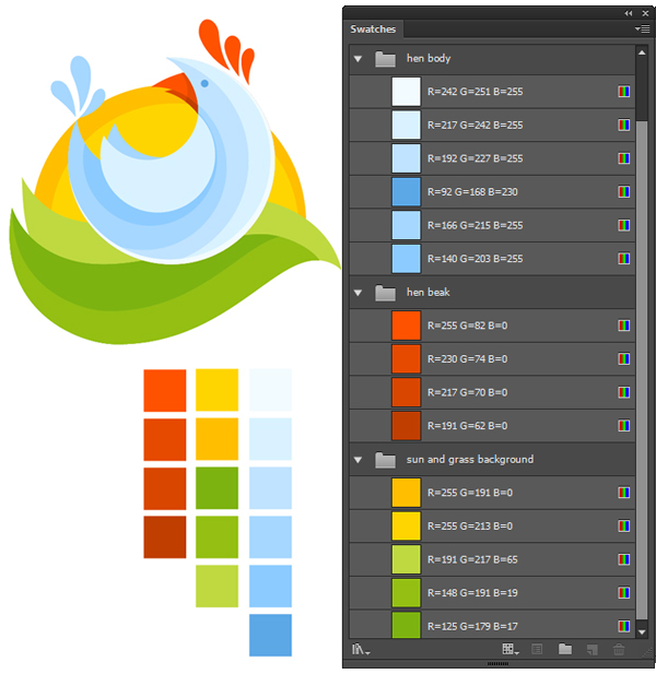 enliven your logo with bright colors