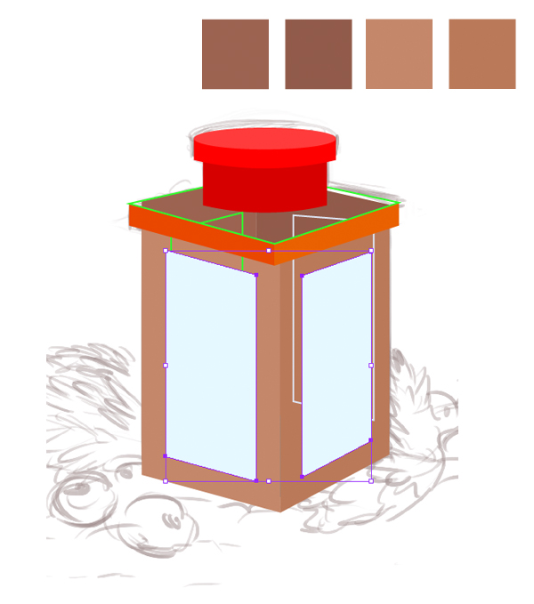check the wood colors palette