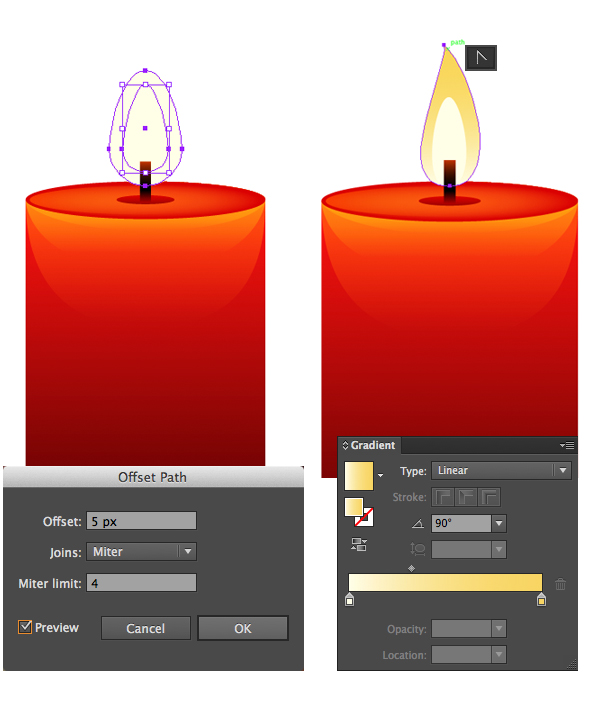 render the candle flame 2